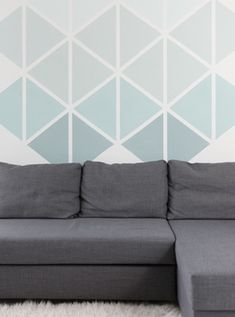 57 ideas for wall painting diy geometric Room Wall Painting, Diy Painting, Image Painting, Geometric Decor, Geometric Painting, Wall Decor, Room Decor, Wall Patterns, Paint Designs