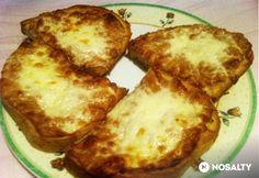 Tejfölös melegszendvics Baked Potato, Baked Goods, Tapas, Sandwiches, Food And Drink, Dairy, Pizza, Favorite Recipes, Cheese