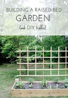 Raised Bed Garden + DIY Trellis from Emily A. Clark