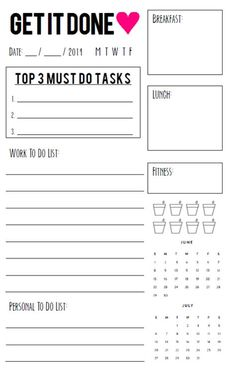 More Free Printable Daily Planners  January Group And Facebook