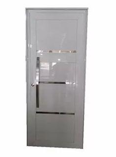 porta de aluminio branco lambril com dobradiça 2,10 x 0,80