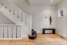 Minimalist front entry hall featuring Gym Hooks by Hay Design Entry Hall, Front Entry, Hay Design, Hooks, Stairs, Minimalist, Gym, Modern, Home Decor