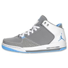 Jordan As You Go Men's Basketball Shoes | FinishLine.com | Cool/Grey/University Blue/White