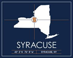 Syracuse University Map Wall Art Picture at Syracuse Orange Photos