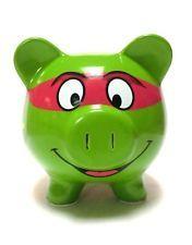 Teenage Mutant Ninja Turtle Piggy Bank TMNT Ceramic turtles room decoration NEW