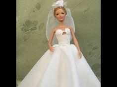 Как сшить свадебное платье для Барби. How to sew a wedding dress. - YouTube