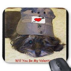 "Will You be My Valentine? Custom Mousepad. #stanrail - $11.95 - How can you say no to a sad face like this! This is a gift that you can use with your computer.9.25"" x 7.75"" – Perfect for any desk or work space. #stanrails_store"