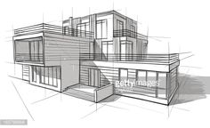 Architect Drawing - Http Www In Images Architectural Architects Drawings Can Help Get Your Home Design With Architectural Building Drawing Wa. Croquis Architecture, Architecture Design Concept, Architecture Sketchbook, Facade Architecture, Architecture Diagrams, Building Drawing, Building Sketch, Building Design, 3d Building