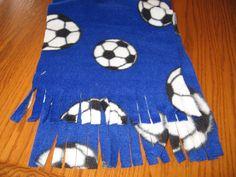 Soccer Balls On Blue Fleece Monogrammed Scarf by MoMaCreates Fleece Scarf, Fleece Fabric, Handmade Baby, Handmade Items, Handmade Gifts, Custom Baby Bedding, Monogrammed Scarf, Cozy Scarf, Unisex Gifts
