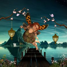Loving this pic 'Cute flying fairy  over the jetty' by nicky2342 via @mipic_app