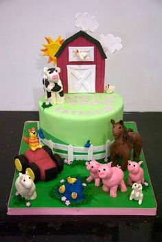 Image result for girl farmyard cake