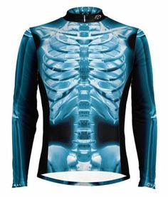 I'd Love this jersey, but the top is a bit eye catching. Think I'd have to cycle a lot better than I do to deserve it... Primal Wear X-Ray Skeleton Long Sleeve Cycling Jersey Men's bike bicycle xray