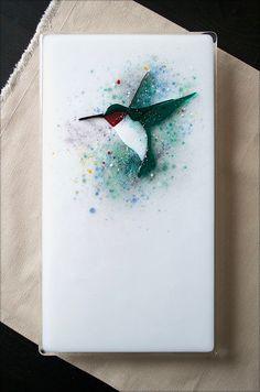 "Hummingbird Panel | Fused Glass 7"" X 13"" | Niven Glass Originals | Flickr"