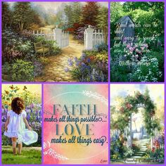 Faith makes all thing possible, Love makes all things easy.◙✽