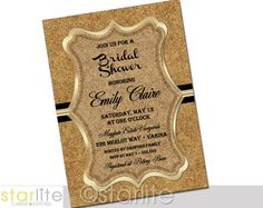 Hey, I found this really awesome Etsy listing at https://www.etsy.com/listing/167710857/bridal-shower-invitation-cork-board
