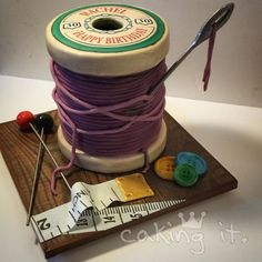 Cotton Reel - Cake by Caking it. - CakesDecor