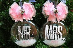 Hey, I found this really awesome Etsy listing at http://www.etsy.com/listing/165668568/personalized-wedding-ornament-set-bride