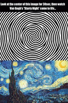 Cool Gif: Starry Night Optical Illusion.