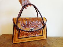 Purse Western Tooled Leather Vintage 1960's Bag  $32  http://www.rubylane.com/item/676693-A696/Purse-Western-Tooled-Leather-Vintage