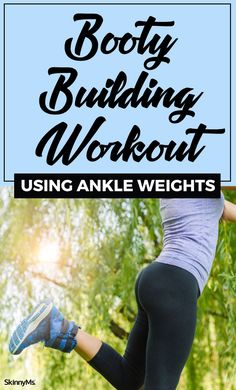 For better booty results try a workout using ankle weights! In this workout we chose simple on-the-mat moves that are great for beginners. Great Butt Workouts, At Home Workouts, Band Workouts, Leg And Glute Workout, Ankle Weights, Skinny Ms, Reduce Cellulite, Glutes, Fitness Tips