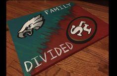 Family House Divided NFL by HeartfeltCanvas on Etsy