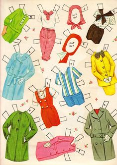 """""""Ballet Cut-Outs: 5 Dolls & Costumes for 5 Ballets"""" published 1964 by Whitman #1962 (8 of 9)"""