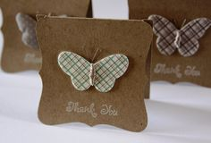 6 Handmade Cards Gift Set, Mini Card Set, Thank You Cards, Butterfly Cards. $8.00, via Etsy.