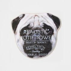 リアルモチーフタオル DOG (PUG) - ●Leadies' Hemings collection/・リアルモチーフタオル [CONCIERGE-NET (運営:株式会社スーパープランニング)]
