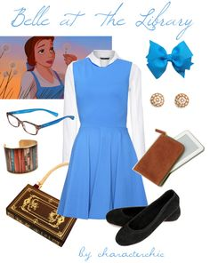 Character Chic: Belle at the library disneybound - reception outfit