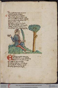 Cod. Pal. germ. 794: [Ulrich] Boner: Edelstein (Schwaben (Oberrhein? [Upper Rhine?]), um 1410/1420), Fol 15r