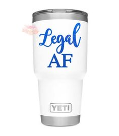 21st Birthday Gifts For Women Gift Legal AF Wine Glass Decal 21 Her Cup