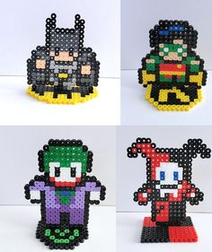 DC Comics Mini Heroes & Villains Series 1 Single by GamingBeads, $5.00 Harley Quinn, Batman , Robin , Joker