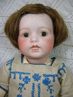 French Bisque Character Doll Limoges or Lanternier, Toto Type by CircaMundiVintage