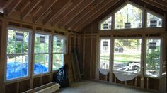 simple vaulted family room addition on a rambler | addition to a rambler this one story addition created a family room ...