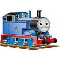 """Let Thomas the Tank Engine come alive on the floor for you little ones! Thomas fans will love this 24-piece puzzle that's shaped like Thomas. When they're all done putting it together, the puzzle will measure 36"""" by 24"""".  $14.99  http://calendars.com/Kids-TV/Thomas-the-Tank-Shaped-Floor-Puzzle/prod1289105/?categoryId=cat00071=cat00071#"""