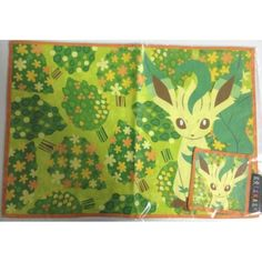 Pokemon Center 2012 Eevee Collection Leafeon Placemat & Coaster Set