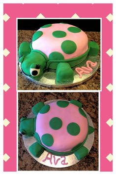 Turtle cake - why are they all pink? are turtles a girl thing?