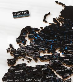 3D Wooden World Map by GaDenMap. Color: BLACK CAVIAR. Push Pin Map, Travel Map with Pins, World Map Wall Art Wood. Wood World Map can be used as a travel map. Pin board for your ideas, business development places, travel destination and just random notes of happiness. Large wall art decor and a place for inspiration! #woodenwalldecor #bedroomdecor #livingroomdecor