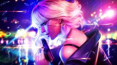 Neon Clash by Dropdeadcoheed on DeviantArt Charlize Theron, Beauty Art, Beauty Women, 2048x1152 Wallpapers, Empire Records, Atomic Blonde, Chef D Oeuvre, Fan Art, Hd Picture