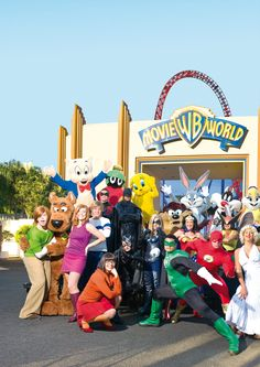 I went to Movie World alot when I was younger and I went on my first roller coaster ride there.