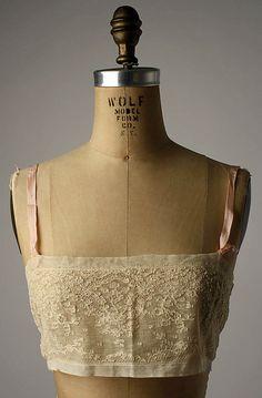 Brassiere  Bien Jolie  (American)  Date: late 1920s  Front view