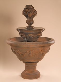 2-Tier Fruit Urn Outdoor Water Fountain