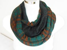 Men's scarf Plaid men scarf Green scarf Unisex by Nazcolleccolors