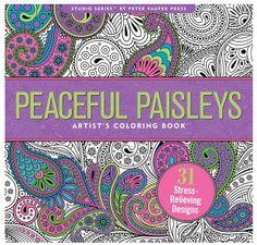 Peaceful Paisley Coloring Book | underthecarolinamoon.com