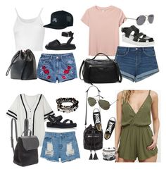 """""""Michael Clifford Inspired Outfits for Trip to California"""" by fivesecondsofinspiration ❤ liked on Polyvore featuring H&M, Monki, Lost & Found, MANGO, NIKE, ASOS, Zara, JuJu, Karen Millen and Lulu*s"""