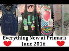 Everything New at Primark in June 2016- Biggest ever video 1250 new items!!!  The latest London fashion for Women, shoes, lingerie, bikinis & beachwear, homewear, handbags, purses & suitcases and accessories.