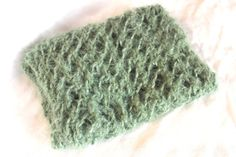 Mohair newborn wrap in sage green Photography by knitsandwhatknots, $20.00