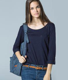 Camiseta Bolsillo con Tachas | Shop Woman SPF