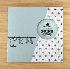 Babykort laget av Sigrid for Kreativ Scrapping, utfordring I Card, Scrap, Baby, Color, Design, Creative, Colour, Tat