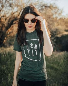 Arizona Hikers Guide Tee | Forest